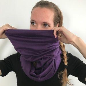 Trixy Xchange Purple Cotton Large Infinity Scarf